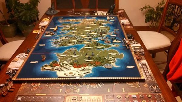 Game of Thrones masaüstü oyunu haritası