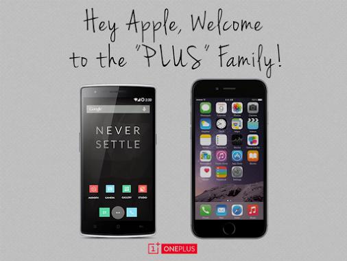 """OnePlus One'dan iPhone 6 Plus'a """"hoşgeldin"""" mesajı"""