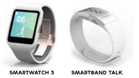 Sony SmartWatch 3 ve SmartBand