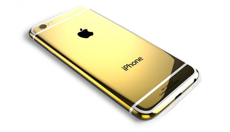 iPhone 6 Plus yeteri kadar pahalı gelmediyse artık 24 ayar altın modeli de var
