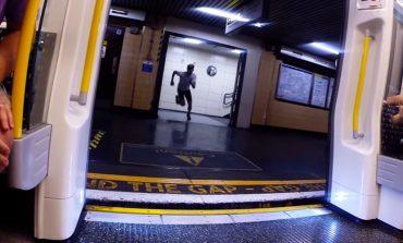 Metro ile yarışan adam!