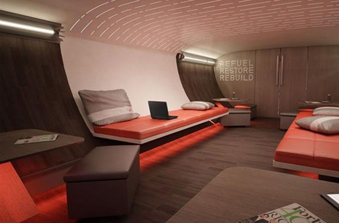 Nike, bir tasarım firmasıyla beraber atletler için özel bir uçak tasarladı