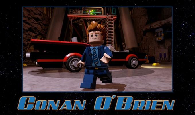 Conan O'Brien Lego Batman 3'te elimizin altında olacak.