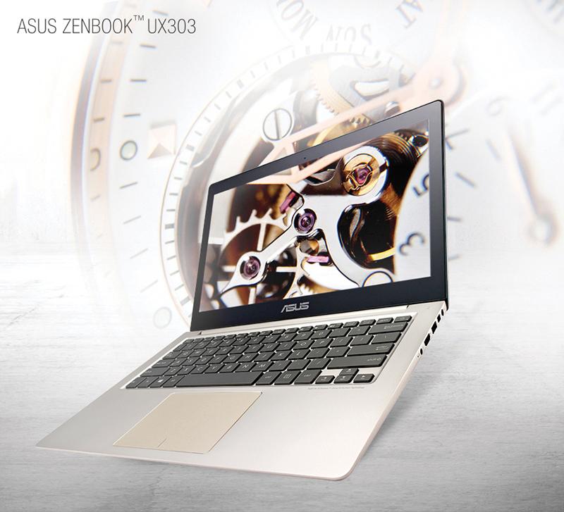 Zenbook UX303, şıklıkla gücü birleştiren geleneksel Zenbook anlayışının yeni neslini temsil ediyor
