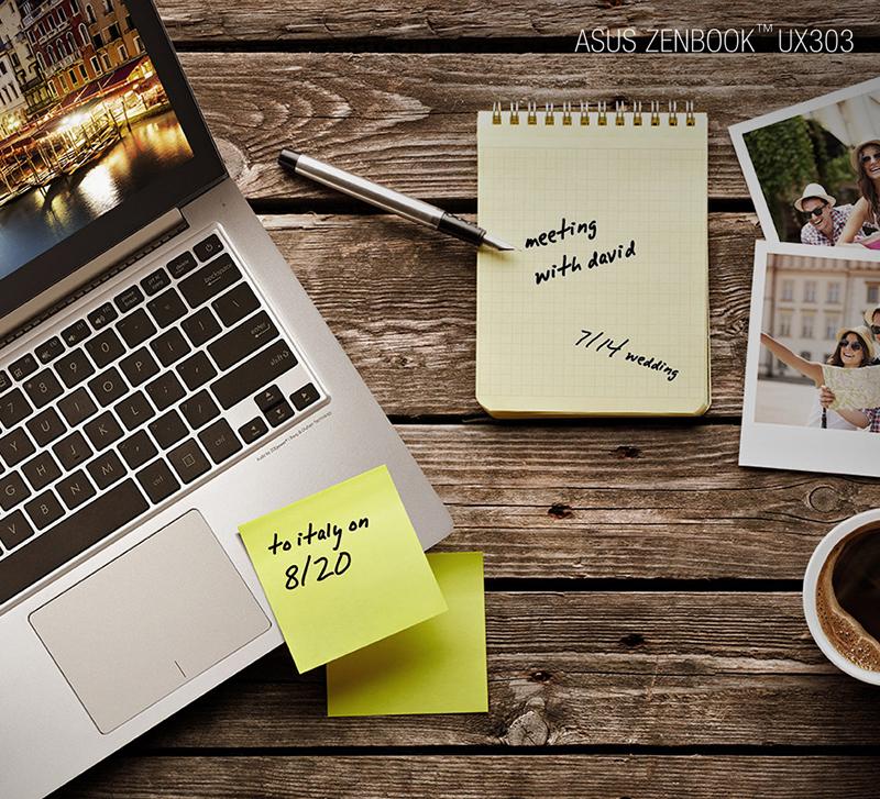 Zenbook UX303, teknolojinin son örneklerinden olan, 13,3 inçlik QHD+PLS (plane-to-line switching) dokunmatik ekrana sahip. 3200 x 1800 piksel ve inç başına 275 piksel yoğunluğu (ppi) sunan ekran çarpıcı derecede net ve canlı görüntüler sunuyor.