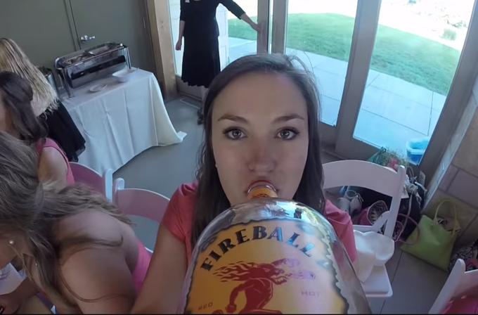 Video: Düğünde viski şişesine GoPro bağlayınca…