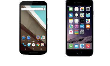 Nexus 6 ile iPhone 6 Plus yan yana geldi