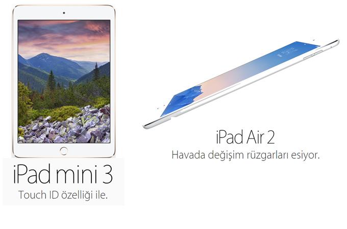 Apple'ın yeni tabletleri iPad Air 2 ve iPad mini 3 duyuruldu