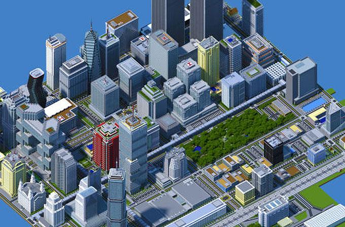 İki yılını harcayarak Minecraft'ta bu devasa şehri yarattı