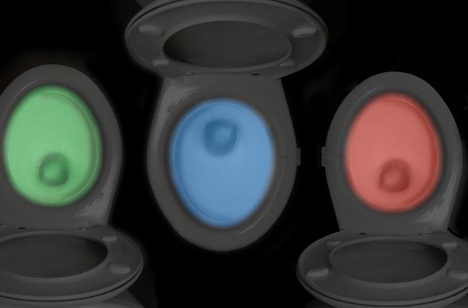 IlumiBowl ışıkları, klozetinizi aydınlatıyor
