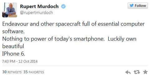 Murdoch'ın iPhone 6 aşkı neyin habercisi acaba?