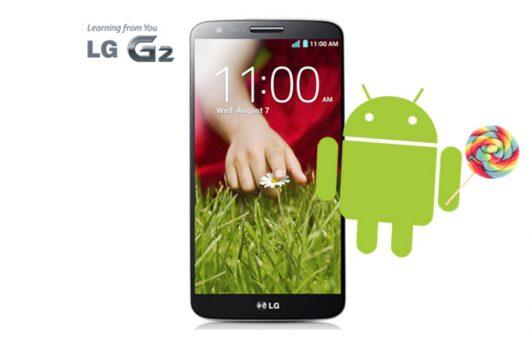 LG G2, Android'in en yeni sürümü Lollipop'a güncellenecek.