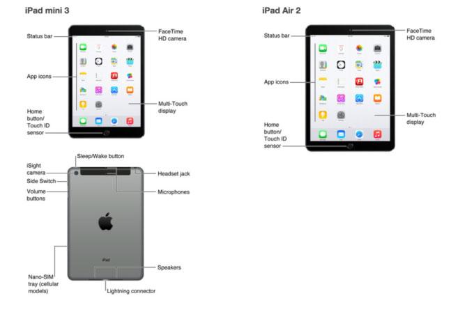 Yeni iPad modellerinin kullanım klavuzları sızdırıldı