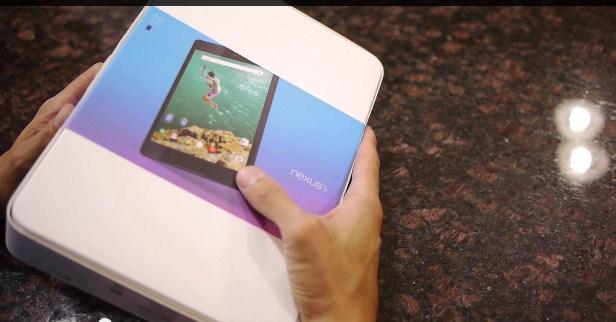 Nexus 9 Unboxing videosu yayınlandı