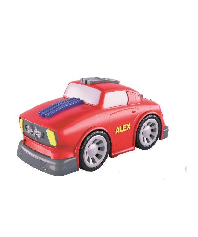 Imaginieer takı ve arabaları, biyolojik olarak parçalanabilir plastik bir metal olan PLA'dan yapılıyor.