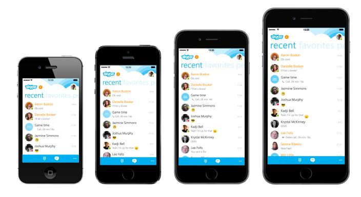 Skype'ın güncellenen iOS uygulaması iPhone 6 ve iPhone 6 Plus için optimize edildi