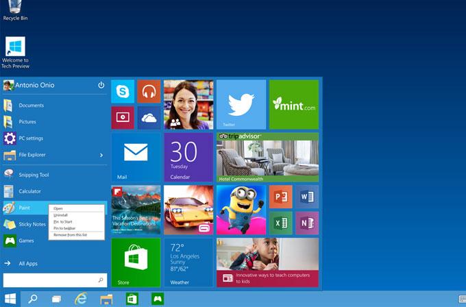 Windows 10'un preview sürümü 1 milyon kişi tarafından indirildi