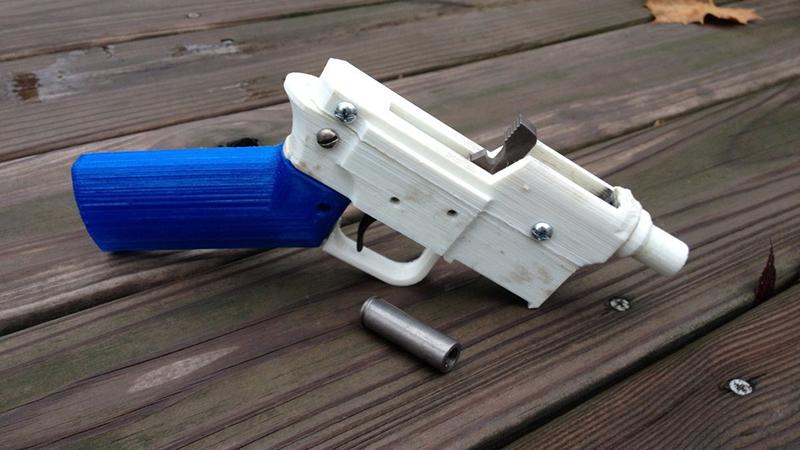 Michael Crumling'in 3D yazıcıdan çıkan silahı