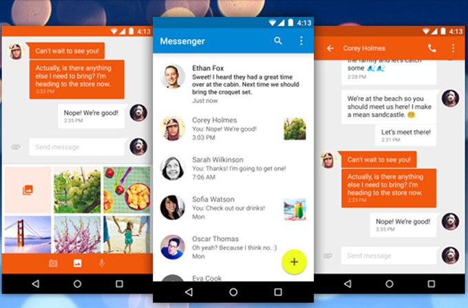 Google'ın Messenger uygulaması yayınlandı