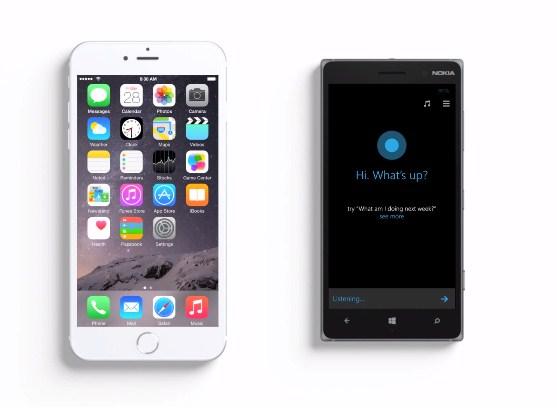 Cortana, iPhone 6 Plus'ın Siri'sine şişman diyor