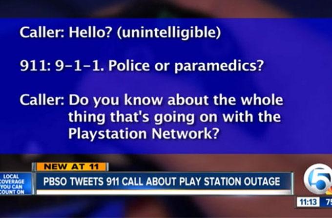 Sony PSN çökünce çocuklar 911'i aradı