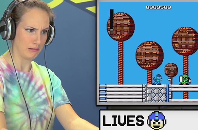 Video: Zamane çocukları 80'lerin Mega Man oyununu deniyor