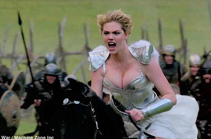 Kate Upton'lı ikinci Game of War reklamı