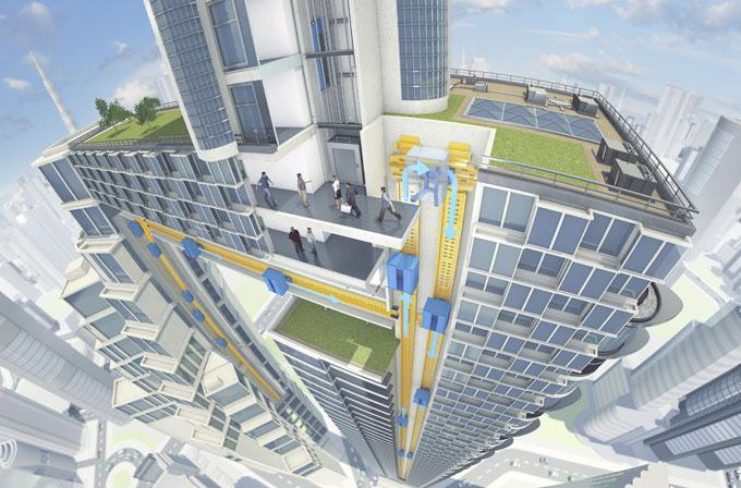 Kablosuz ve yatay olarak da gidebilen asansör: MULTI
