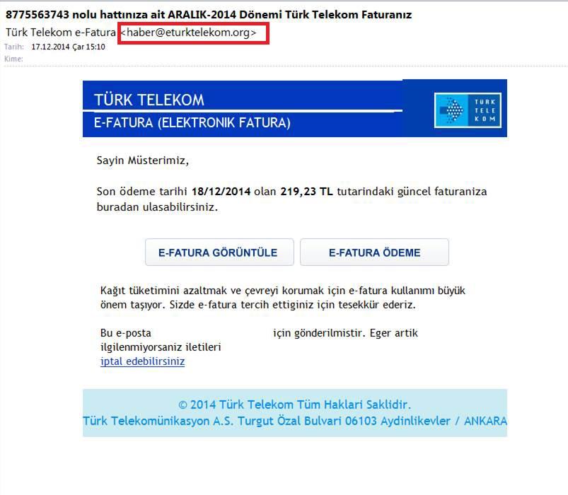 CryptoLocker Türk telekom