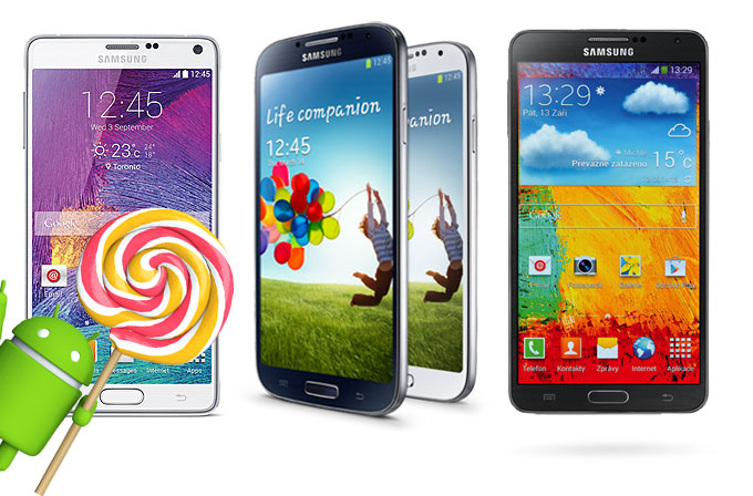 Galaxy Note 3, Note 4 ve Galaxy S4'ün Android 5.0 Lollipop'a güncelleneceği tarih