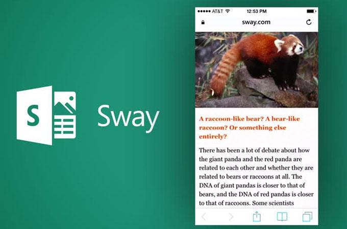 Microsoft'un online ofis programı Sway, herkese açıldı