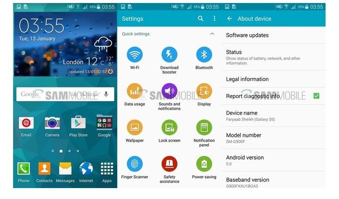 Samsung Galaxy S5'e İngiltere'de Android 5.0 Lollipop güncellemesi geldi