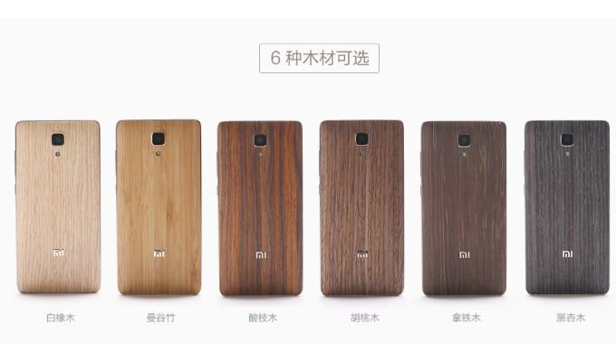Xiaomi Mi 4 için ahşap kapakları piyasaya çıkardı
