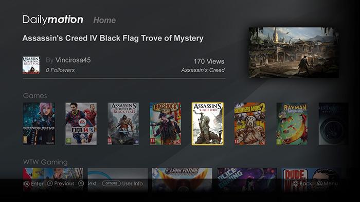 Dailymotion+PS4+Uygulamasi