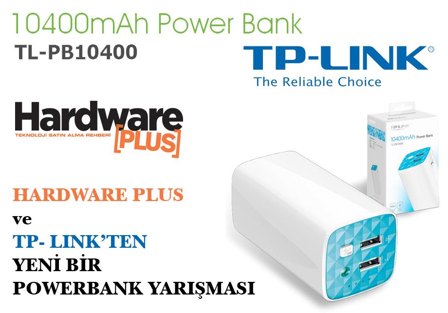 TP-LINK TL-PB10400 10400mAh Powerbank yarışma