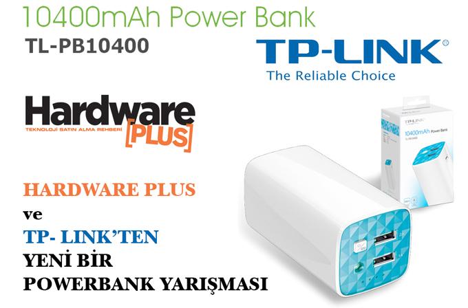 HWP okurlarına yeni bir TP-LINK TL-PB10400 10400mAh Powerbank kazanma fırsatı!