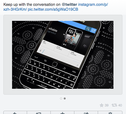 BlackBerry'nin resmi Twitter hesabı iPhone'dan tweet attı