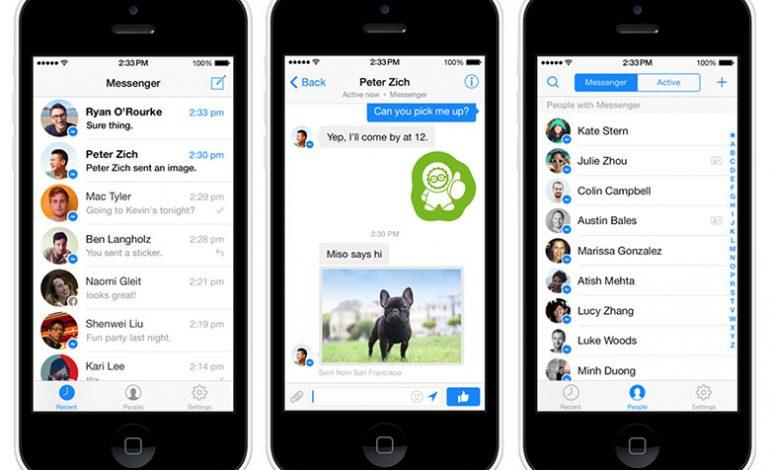 Facebook Messenger'a 2015 makyajı geliyor