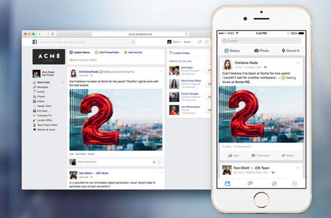 """İş yeri için tasarlanmış """"Facebook at Work"""" duyuruldu"""