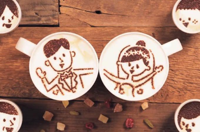 1000 bardak kahve ile aşk hikayesi anlattılar (VİDEO)