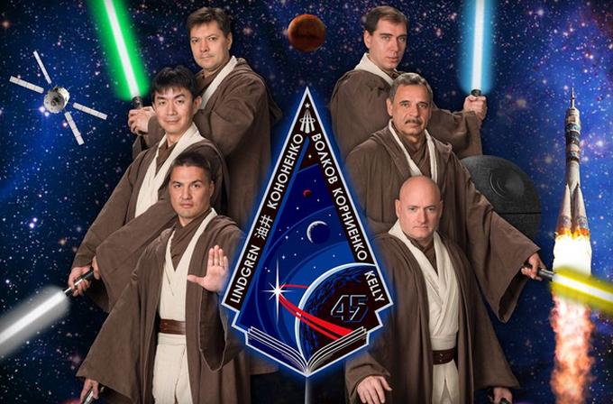 ISS'in 45. astronotları Jedi kıyafeti ile dünyaya hoşçakal dediler