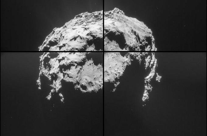 Rosetta'dan 67P göktaşı için yeni görüntüler geldi