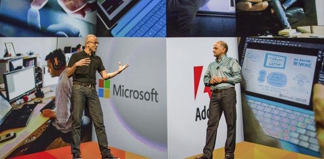 Microsoft ve Adobe el ele veriyor