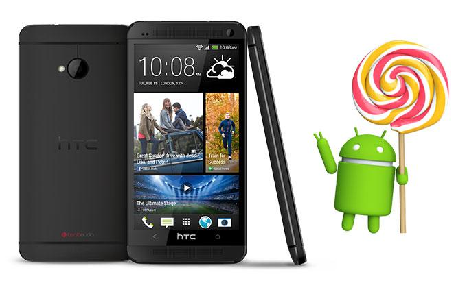 HTC M8'den sonra M7 modeline de Lollipop sunulmaya başlandı