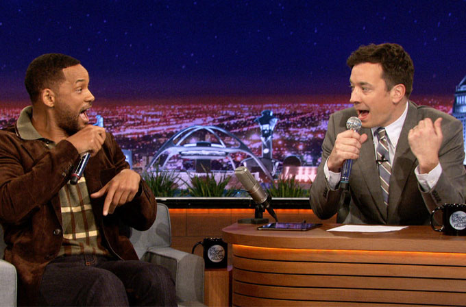 Jimmy Fallon ve Will Smith, iPad uygulamasıyla rap yaptı (VİDEO)