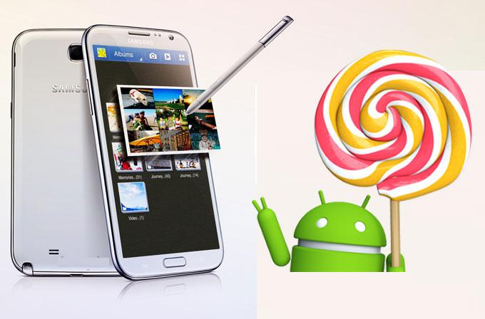 Galaxy Note 2'ye Android 5.0 Lollipop güncellemesi geliyor!