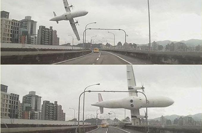 Tayvan'daki uçak kazası kameraya böyle yansıdı (VİDEO)