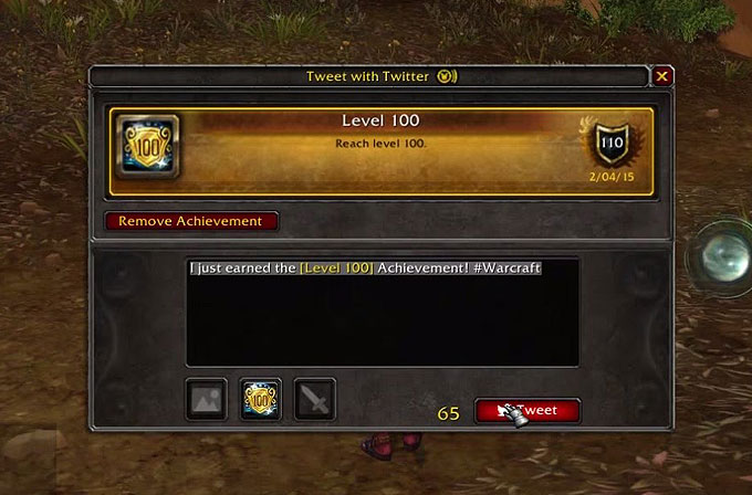 World of Warcraft'ta artık oyun içinden tweet atılabilecek