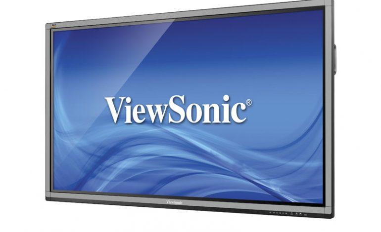 ViewSonic'ten 70 inç 10 parmak dokunmatik kurumsal ekranlar çözümleri