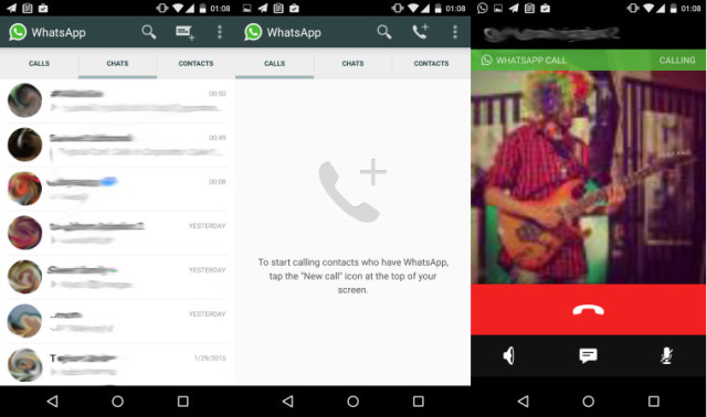 Bazı kullanıcılar WhatsApp'ın arama özelliğini kullanmaya başladı